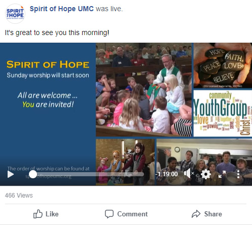 Spirit of Hope on Facebook